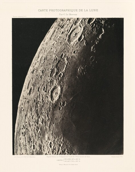 Carte photographique de la lune, planche I (Photographic Chart of the Moon, plate I)