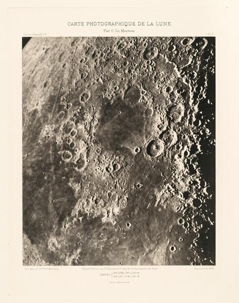 Carte photographique de la lune, planche II (Photographic Chart of the Moon, plate II)