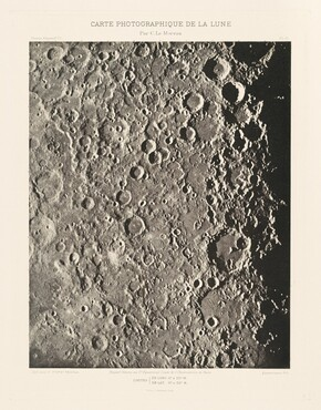 Carte photographique de la lune, planche III (Photographic Chart of the Moon, plate III)