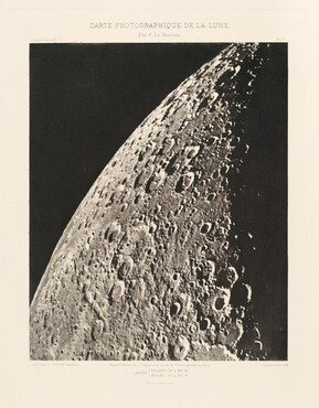 Carte photographique de la lune, planche V (Photographic Chart of the Moon, plate V)