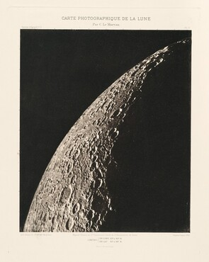 Carte photographique de la lune, planche VI (Photographic Chart of the Moon, plate VI)