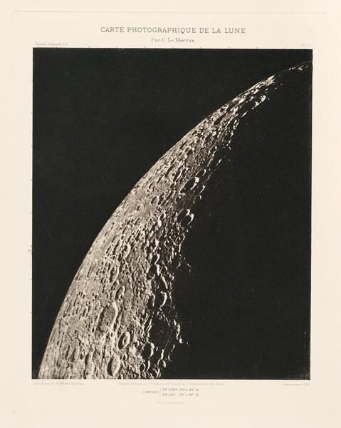 Carte photographique de la lune, planche VI (Photographic Chart of the Moon, plate VI)