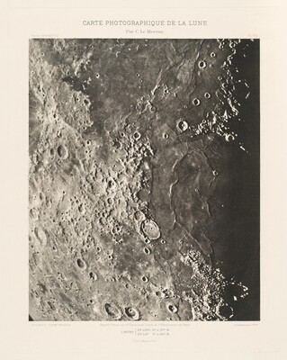 Carte photographique de la lune, planche VIII (Photographic Chart of the Moon, plate VIII)