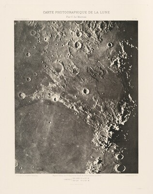 Carte photographique de la lune, planche IX (Photographic Chart of the Moon, plate IX)