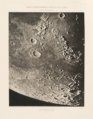 Carte photographique de la lune, planche X (Photographic Chart of the Moon, plate X)