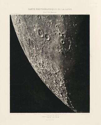 Carte photographique de la lune, planche XI (Photographic Chart of the Moon, plate XI)