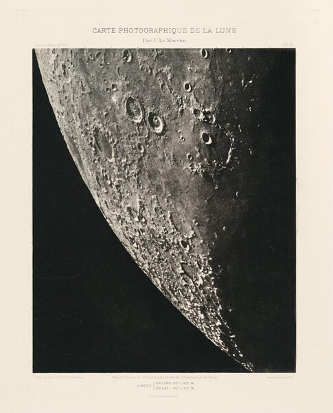 Carte photographique de la lune, planche XI (Photographic Chart of the Moon, plate XI)