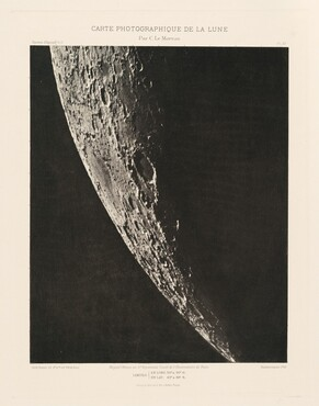 Carte photographique de la lune, planche XII (Photographic Chart of the Moon, plate XII)