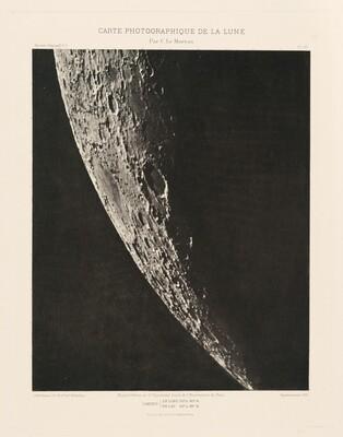 Carte photographique de la lune, planche XII (Photographic Chart of the Moon, plate XII)