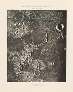 Carte photographique de la lune, planche XIII (Photographic Chart of the Moon, plate XIII)