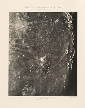 Carte photographique de la lune, planche XV (Photographic Chart of the Moon, plate XV)