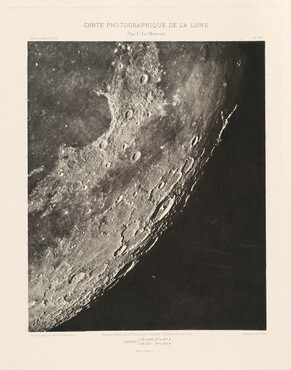 Carte photographique de la lune, planche XVI (Photographic Chart of the Moon, plate XVI)