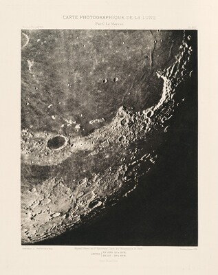 Carte photographique de la lune, planche XVII (Photographic Chart of the Moon, plate XVII)