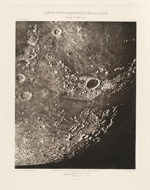 Carte photographique de la lune, planche XVIII (Photographic Chart of the Moon, plate XVIII)
