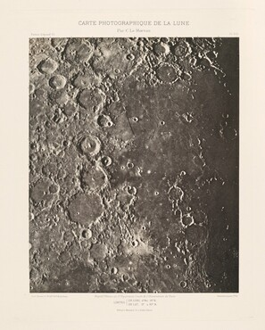 Carte photographique de la lune, planche XIX (Photographic Chart of the Moon, plate XIX)
