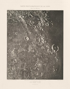 Carte photographique de la lune, planche XX (Photographic Chart of the Moon, plate XX)
