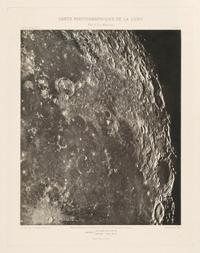 Carte photographique de la lune, planche XXI (Photographic Chart of the Moon, plate XXI)