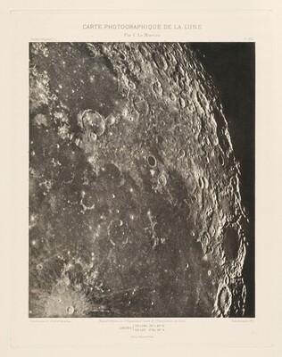 Carte photographique de la lune, planche XXI (Photographic Chart of the Moon, plate XXI)