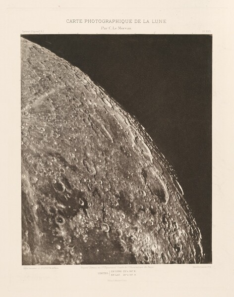 Carte photographique de la lune, planche XXII (Photographic Chart of the Moon, plate XXII)