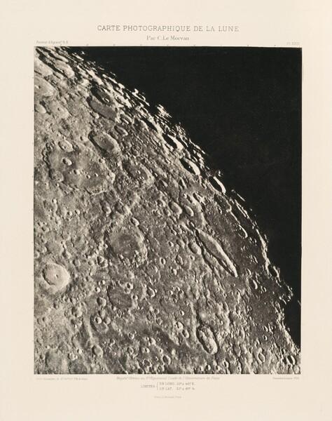 Carte photographique de la lune, planche XXIII (Photographic Chart of the Moon, plate XXIII)