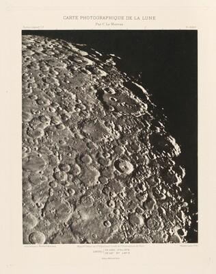 Carte photographique de la lune, planche XXIV (Photographic Chart of the Moon, plate XXIV)