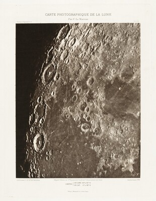 Carte photographique de la lune, planche I.A (Photographic Chart of the Moon, plate I.A)