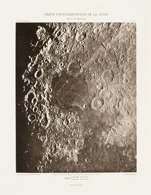 Carte photographique de la lune, planche II.A (Photographic Chart of the Moon, plate II.A)