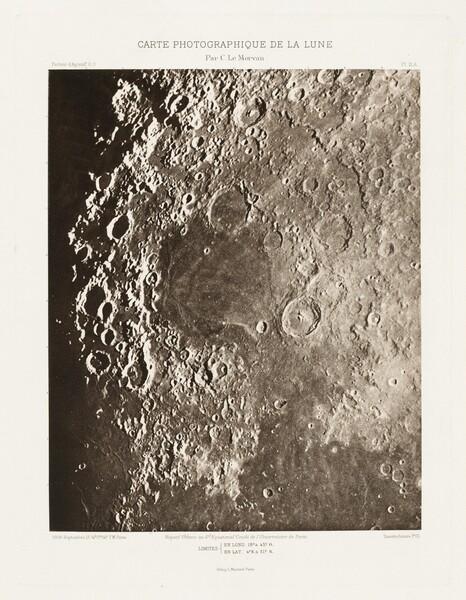 Carte photographique de la lune, planche II.A (Photographic Chart of the Moon, plate II.A)