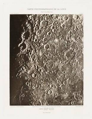 Carte photographique de la lune, planche III.A (Photographic Chart of the Moon, plate III.A)