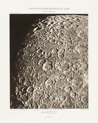 Carte photographique de la lune, planche IV.A (Photographic Chart of the Moon, plate IV.A)