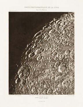 Carte photographique de la lune, planche V.A (Photographic Chart of the Moon, plate V.A)