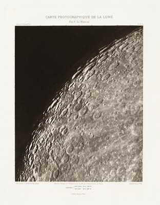 Carte photographique de la lune, planche VI.A (Photographic Chart of the Moon, plate VI.A)