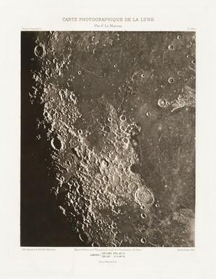 Carte photographique de la lune, planche VIII.A (Photographic Chart of the Moon, plate VIII.A)