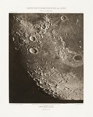 Carte photographique de la lune, planche X.A (Photographic Chart of the Moon, plate X.A)
