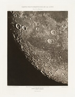 Carte photographique de la lune, planche XI.A (Photographic Chart of the Moon, plate XI.A)