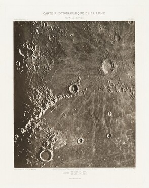 Carte photographique de la lune, planche XIII.A (Photographic Chart of the Moon, plate XIII.A)