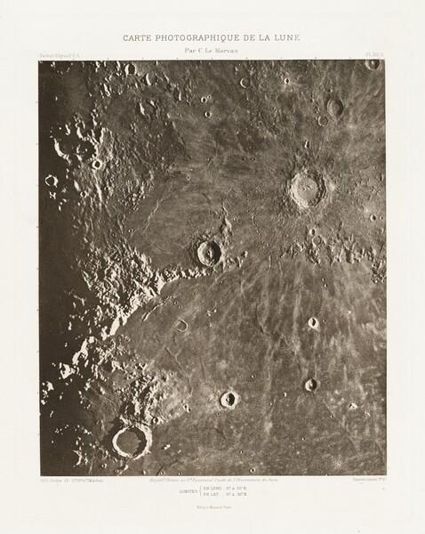 Carte photographique de la lune, planche XIII.A (Photographic Chart of the Moon, plate XIII.A)