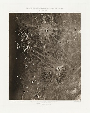 Carte photographique de la lune, planche XIV.A (Photographic Chart of the Moon, plate XIV.A)