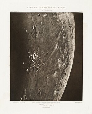 Carte photographique de la lune, planche XV.A (Photographic Chart of the Moon, plate XV.A)