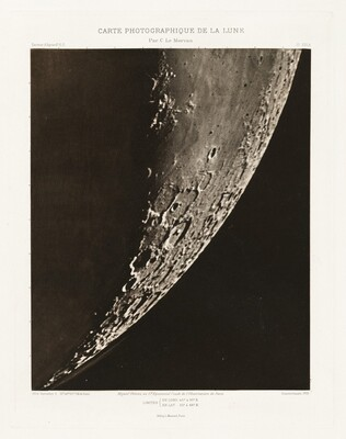 Carte photographique de la lune, planche XVI.A (Photographic Chart of the Moon, plate XVI.A)