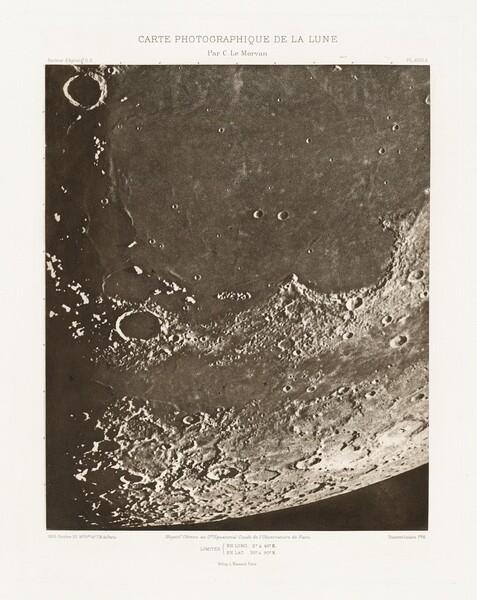 Carte photographique de la lune, planche XVIII.A (Photographic Chart of the Moon, plate XVIII.A)