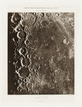 Carte photographique de la lune, planche XIX.A (Photographic Chart of the Moon, plate XIX.A)