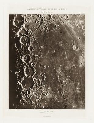 Carte photographique de la lune, planche XIX.A (Photographic Chart of the Moon, plate XIX.A)