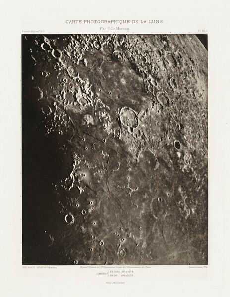 Carte photographique de la lune, planche XX.A (Photographic Chart of the Moon, plate XX.A)