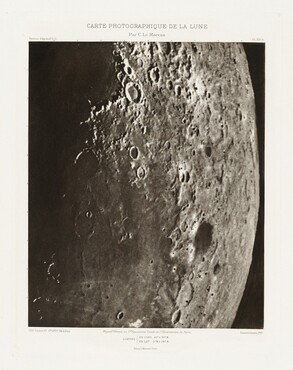 Carte photographique de la lune, planche XXI.A (Photographic Chart of the Moon, plate XXI.A)