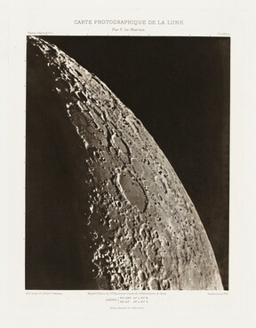 Carte photographique de la lune, planche XXII.A (Photographic Chart of the Moon, plate XXII.A)