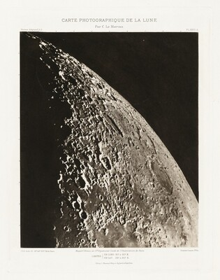 Carte photographique de la lune, planche XXIII.A (Photographic Chart of the Moon, plate XVIII.A)