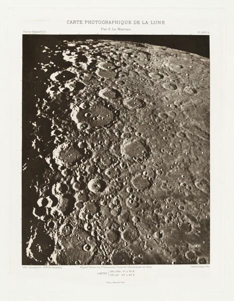 Carte photographique de la lune, planche XXIV.A (Photographic Chart of the Moon, plate XXIV.A)