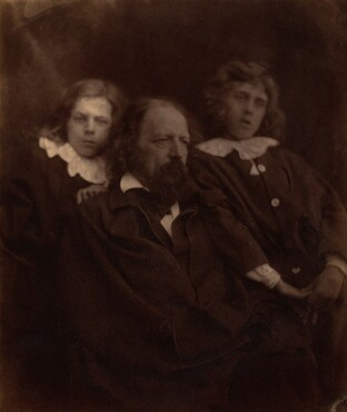 Julia Margaret Cameron, Alfred Tennyson with his Sons, 1865