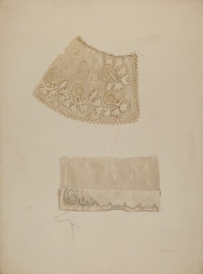 Darned Collar & Pattern of Embroidery